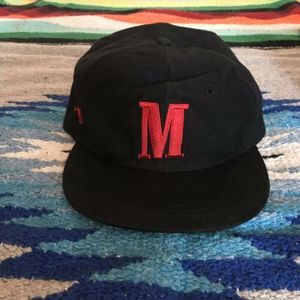 VTG 90's Marlboro Black Adjustable Strap Hat OSFM